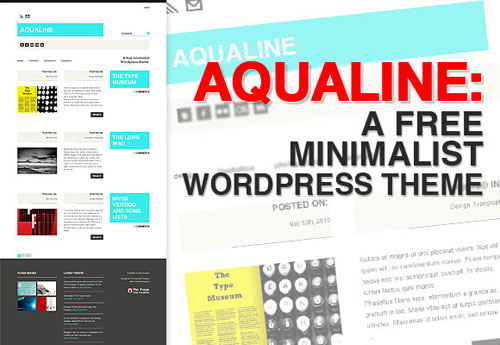Aqualine - Top Quality Free Minimalist WordPress Theme