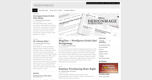 MagZine - Top Quality Free Minimalist WordPress Theme