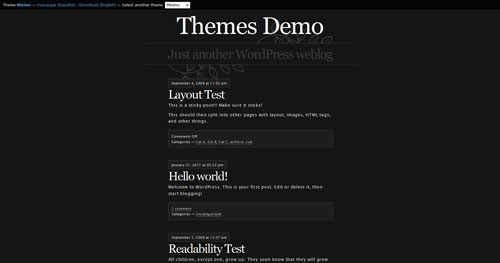 Minimo - Top Quality Free Minimalist WordPress Theme