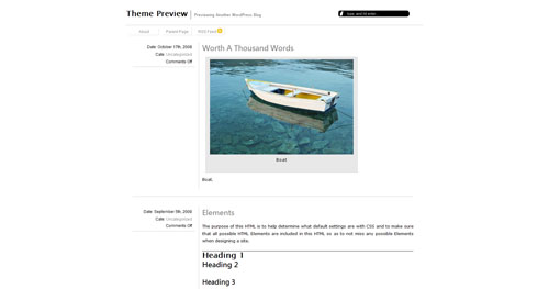 omegaX - Top Quality Free Minimalist WordPress Theme
