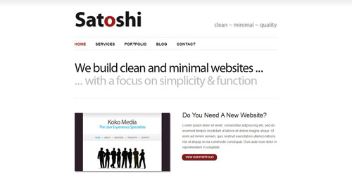 Satoshi - Top Quality Free Minimalist WordPress Theme
