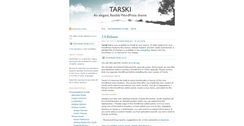 Tarski - Top Quality Free Minimalist WordPress Theme