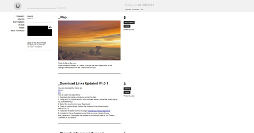 Ulap - Top Quality Free Minimalist WordPress Theme