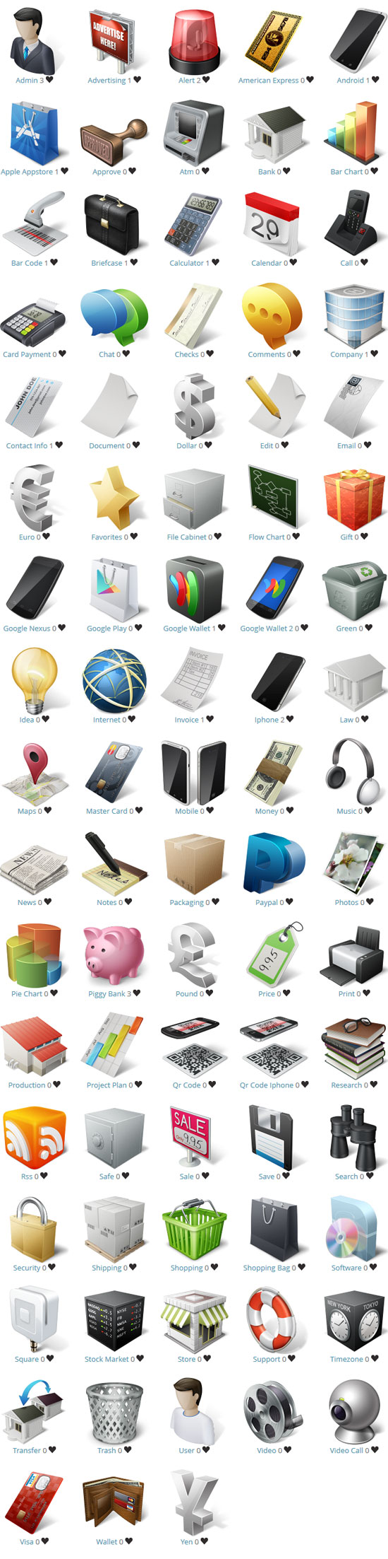 Freebie: Ecommerce and Business Icon Set
