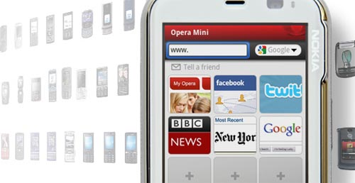 Opera mini mobile web browser
