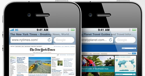 Safari mobile web browser