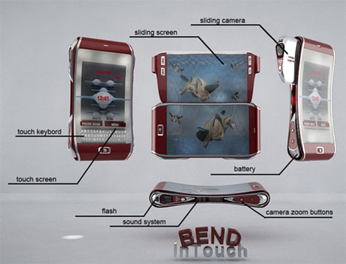 Bend Mobile Cell Phone Concept 3