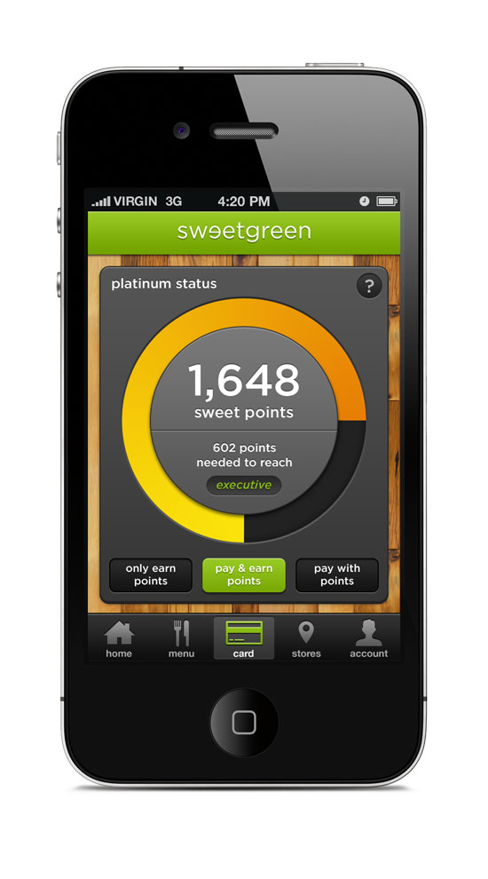 Sweetgreen graph Mobile User Interface Design Inspiration
