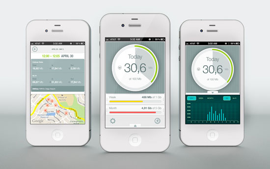 DataWiz Mobile User Interface Design Inspiration