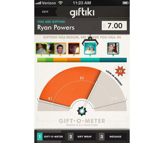 Giftiki Mobile User Interface Design Inspiration