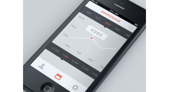 Interactive Graph Mobile User Interface Design Inspiration