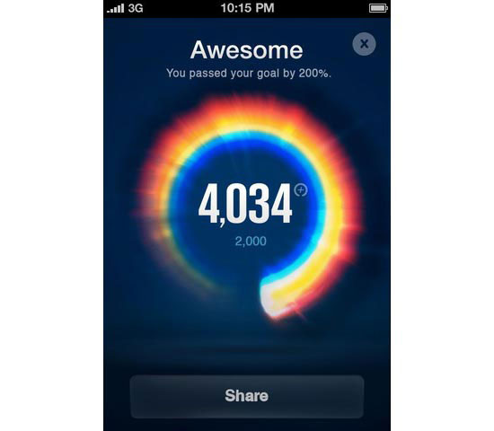 Nike+ fuelband Mobile User Interface Design Inspiration