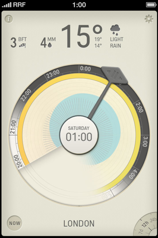 Partly cloudy Mobile User Interface Design Inspiration