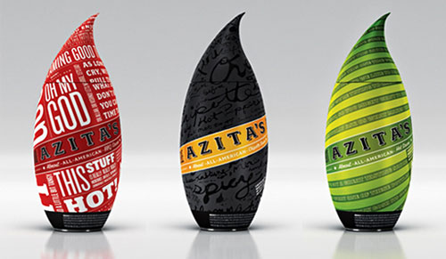 Azitas-Almost-All-American-Hot-Sauce Intelligently Made Food Packaging Ideas (100+ Examples)