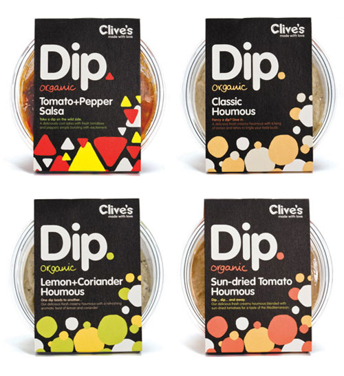 Clives-Organic-Dips Intelligently Made Food Packaging Ideas (100+ Examples)