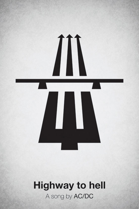 Highway to hell by AC/DC Poster Made With Pictogram