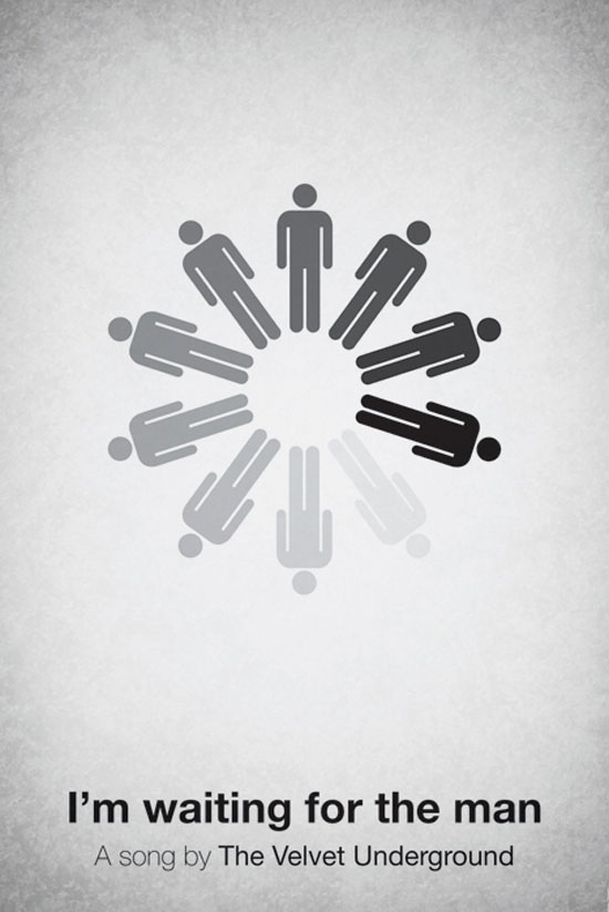 I'm waiting for the man by The Velvet Underground Poster Made With Pictogram