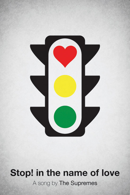 Stop! In the name of love by The Supremes Poster Made With Pictogram