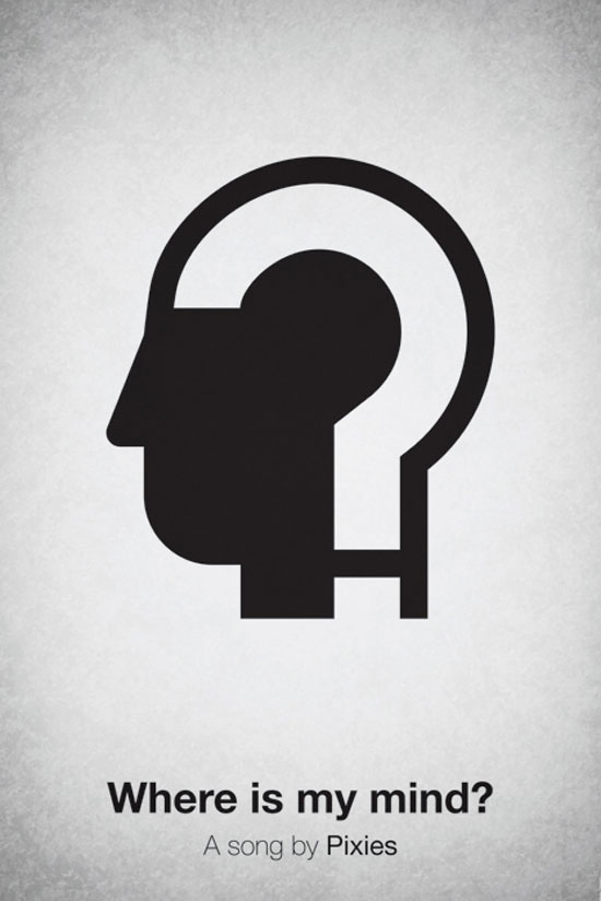Where is my mind by Pixies Poster Made With Pictogram