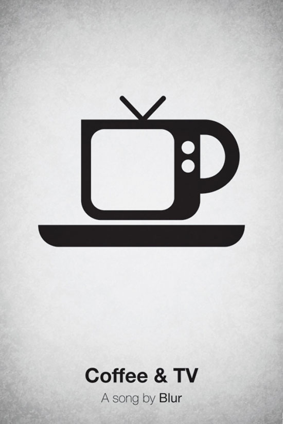 Coffee & TV by Blur Poster Made With Pictogram