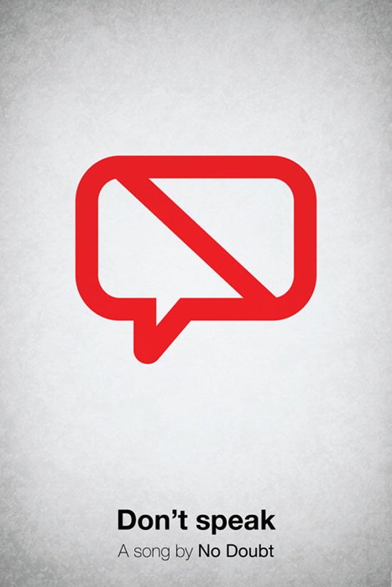 Don't speak Poster Made With Pictogram
