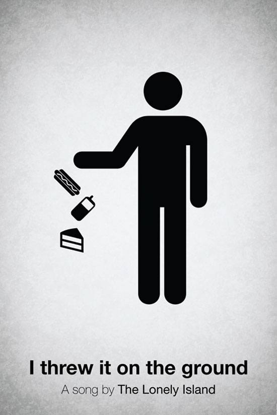 I threw it on the ground by The Lonely Island Poster Made With Pictogram