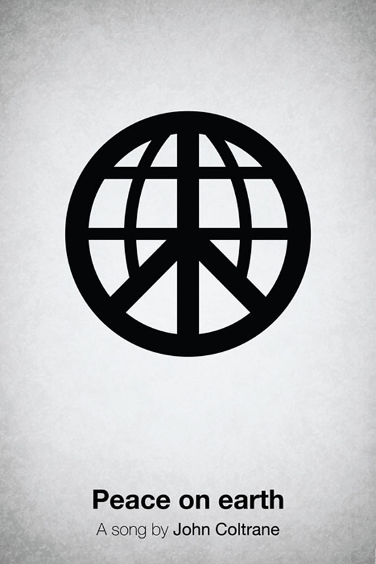 Peace on earth by John Coltrane Poster Made With Pictogram