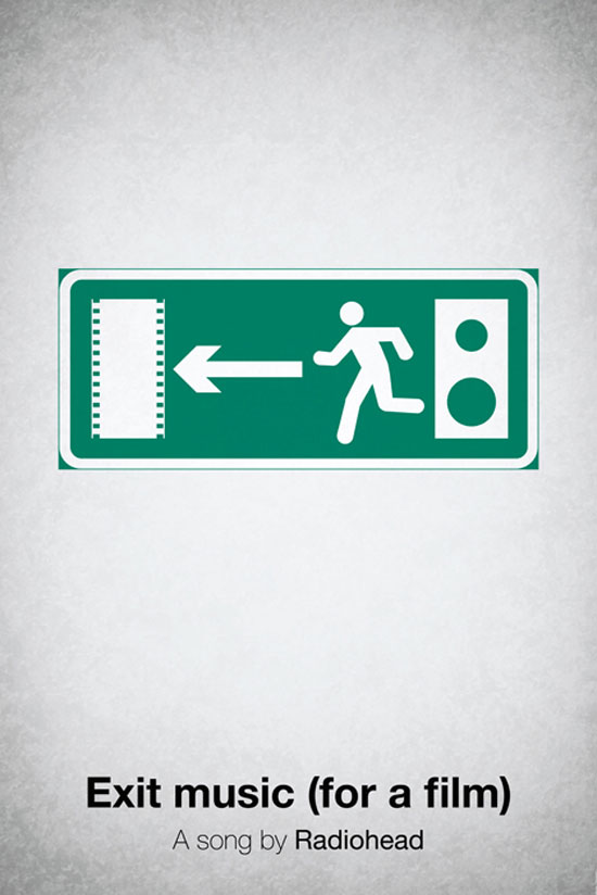 Exit music (for a film) by Radiohead Poster Made With Pictogram