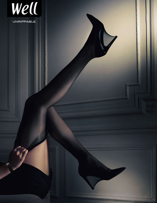 Well Stockings - Unrippable print advertisement