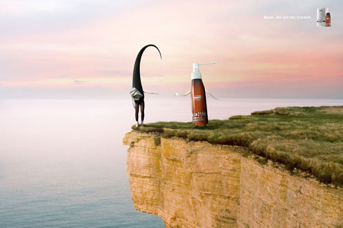 Renaxil - Anti hair loss treatment print advertisement