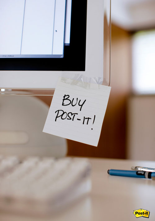 Buy post-it print advertisement