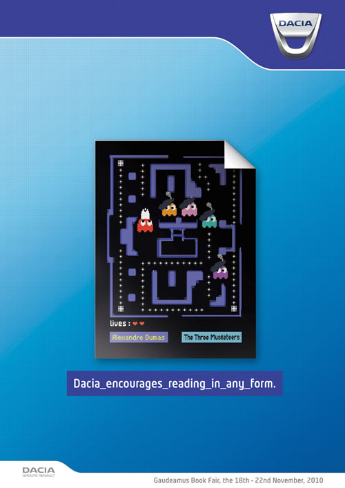 Dacia encourages reading in any form 3 print advertisement