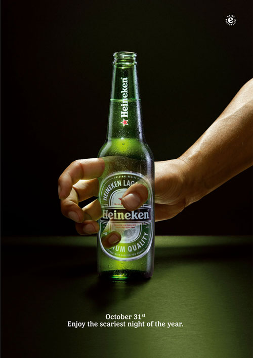 Heineken Halloween - Enjoy the scariest night of the year print advertisement