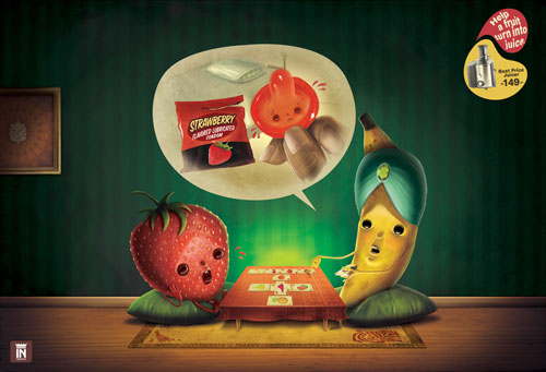 Juicer - Help a fruit turn into juice 2 print advertisement