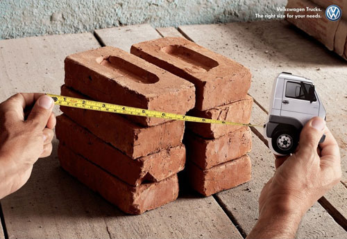 Volkswagen Trucks - The right size for your needs print advertisement