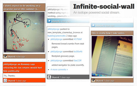 Infinite-social-wall