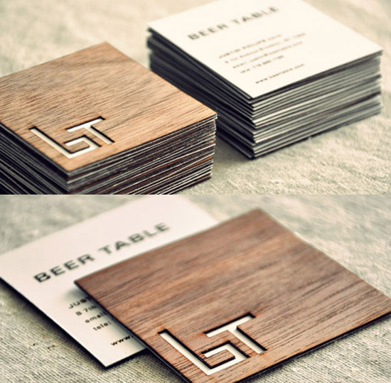 Beer Table In Brooklyn Business Card Inspiration