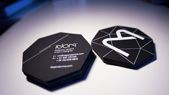 Black Diamond Business Card Inspiration