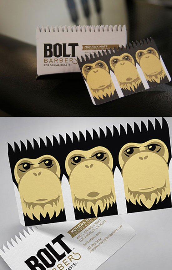 Bolt Barbers Business Card Inspiration