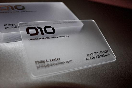 Dreamten Studios Business Card Inspiration