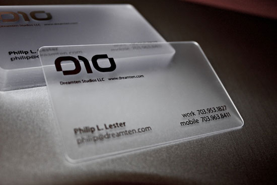 Dreamten Studios Business Card Inspiration