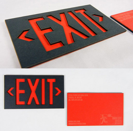 Exit Business Card Inspiration