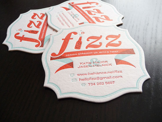 Fizz Coasters Business Card Inspiration