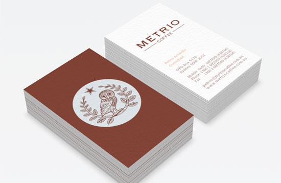 Metrio Business Card Inspiration