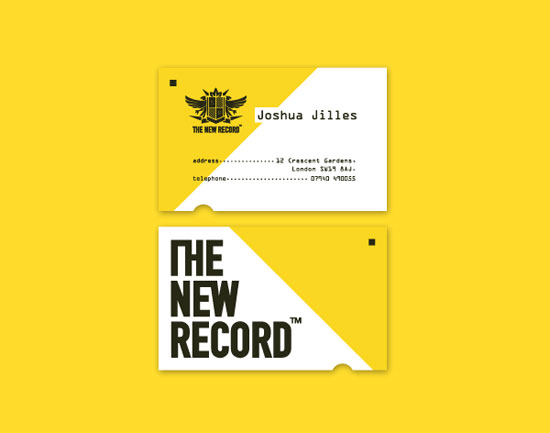 New Record Business Card Inspiration
