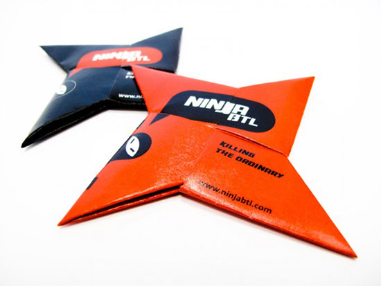 Ninja BTL Business Card Inspiration