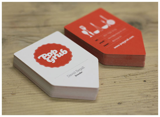 Pop Grub Business Card Inspiration