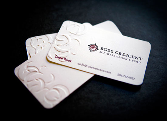 Rose Crescent Business Card Inspiration