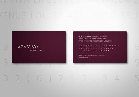 Savviva Business Card Inspiration