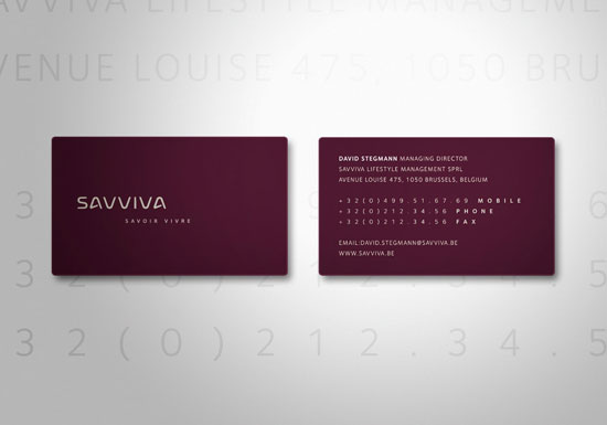 Savviva Business Card Inspiration